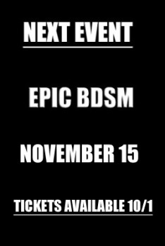 EPIC BDSM Next Event